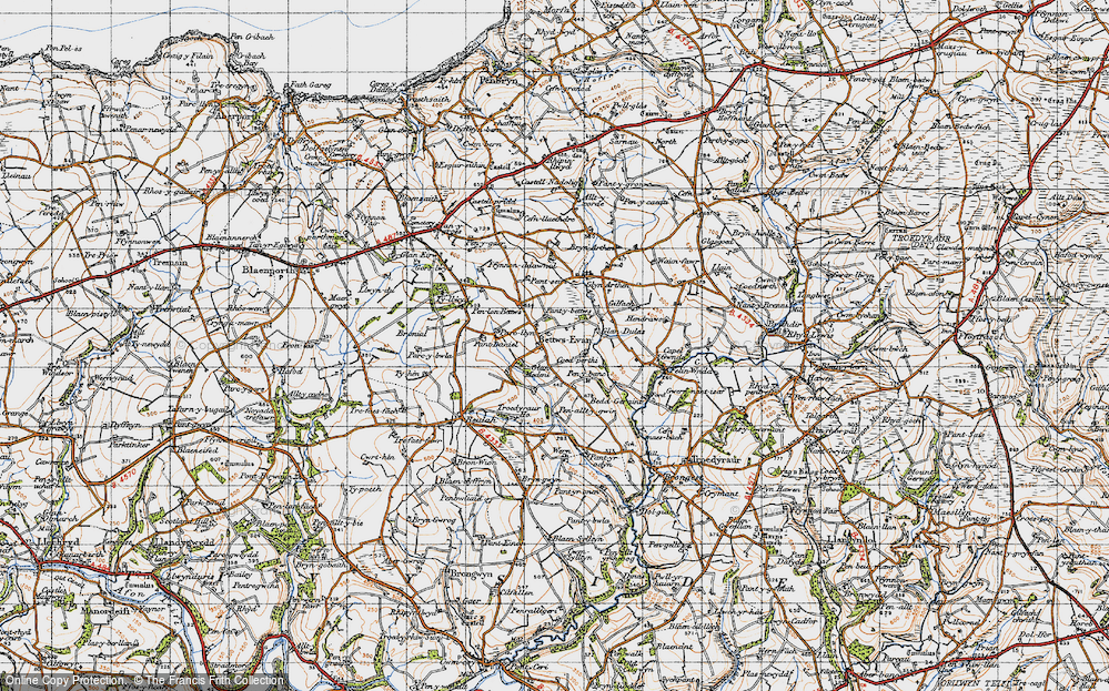 Old Map of Betws Ifan, 1947 in 1947