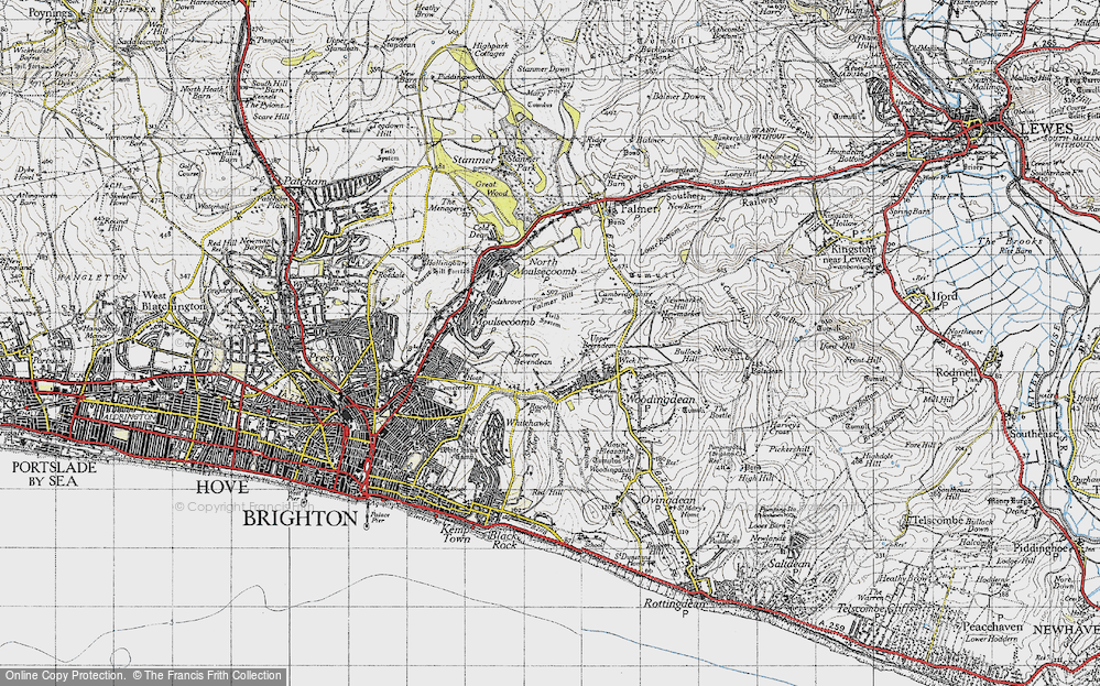 Old Map of Bevendean, 1940 in 1940