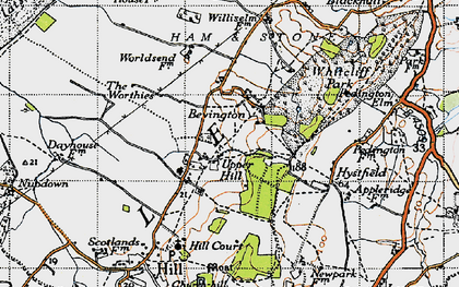 Old map of Willis Elm in 1946