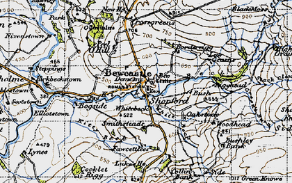 Old map of Ashy Cleugh in 1947