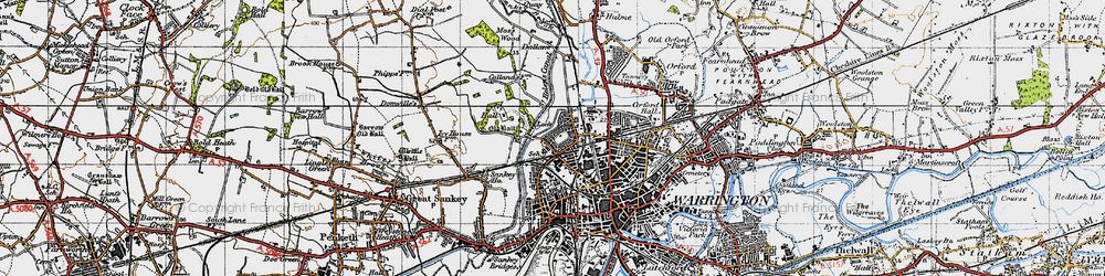 Old map of Bewsey in 1947