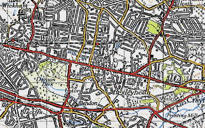 Old map of Bexleyheath in 1946