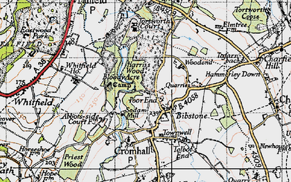 Old map of Bibstone in 1946