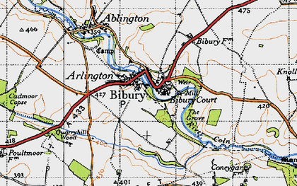 Old map of Bibury in 1946