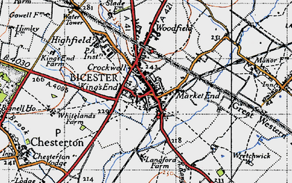 Old map of Bicester in 1946