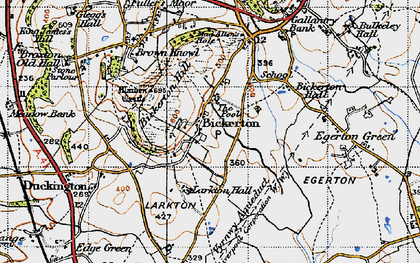 Old map of Larkton Hill in 1947
