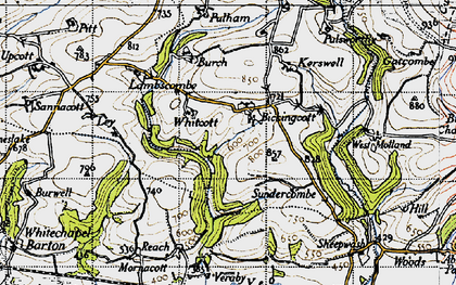 Old map of Whitcott in 1946