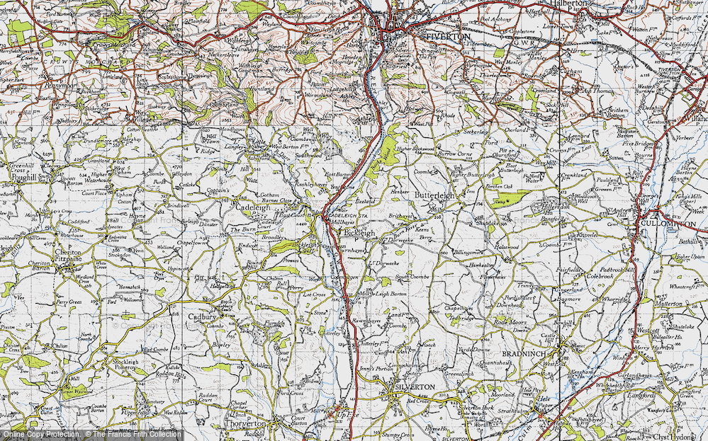 Old Map of Bickleigh, 1946 in 1946
