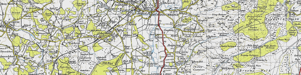 Old map of Bickton in 1940