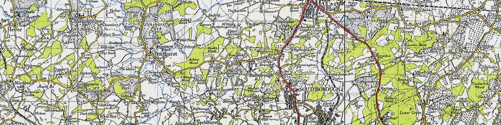 Old map of Bidborough in 1946