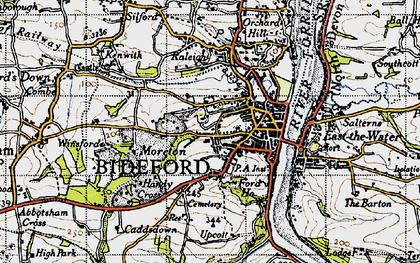 Old map of Bideford in 1946