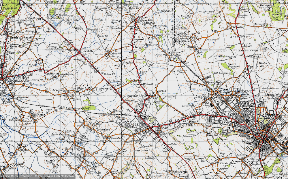 Old Map of Historic Map covering Thorn in 1946