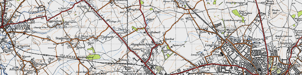 Old map of Bidwell in 1946