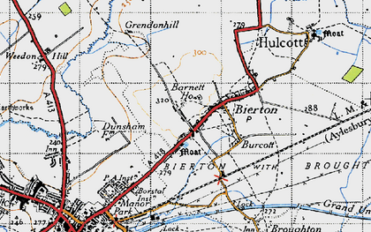 Old map of Bierton in 1946