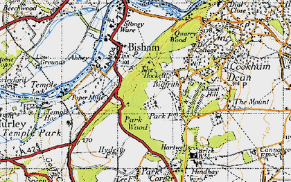 Old map of Bigfrith in 1947