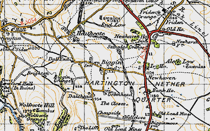 Old map of Wolfscote Hill in 1947
