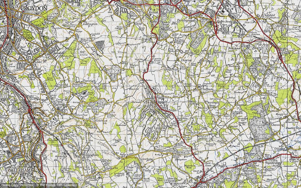 Old Map of Biggin Hill, 1946 in 1946