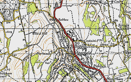 Old map of Biggin Hill in 1946