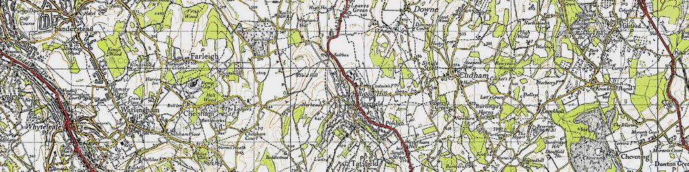 Old map of Biggin Hill in 1946