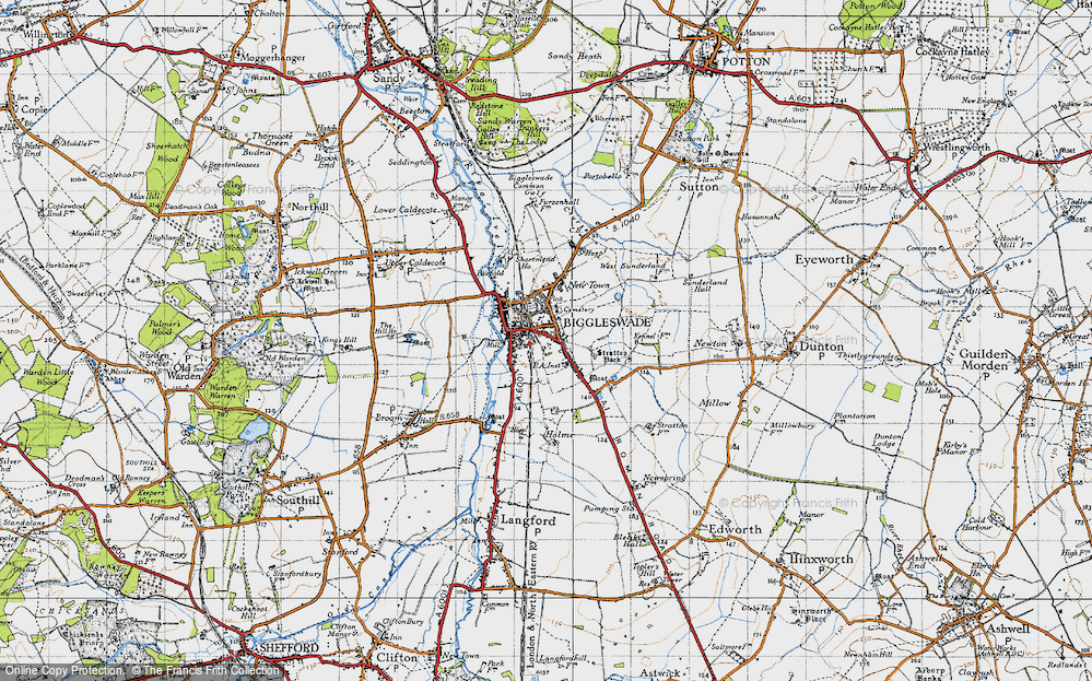 Old Map of Biggleswade, 1946 in 1946