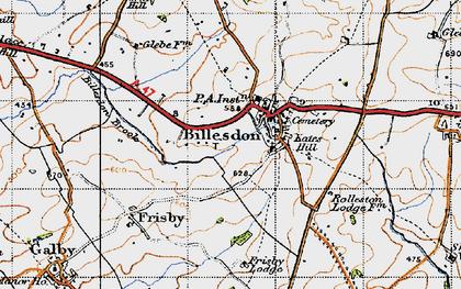 Old map of Billesdon in 1946