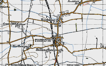 Old map of Billingborough in 1946