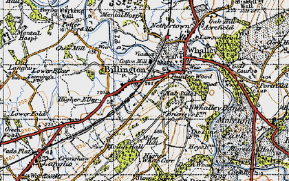 Old map of Billington in 1947