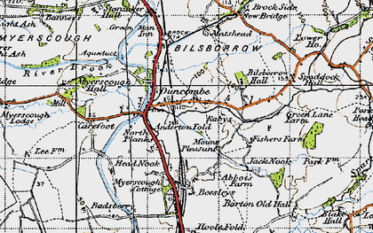 Old map of Anderton Fold in 1947