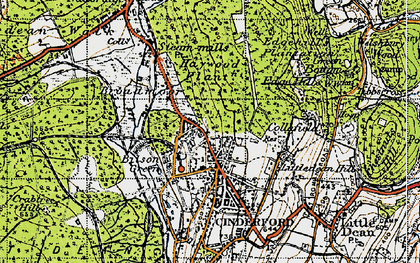 Old map of Bilson Green in 1947