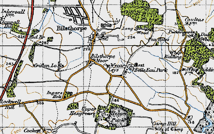 Old map of Wycar Leys in 1947