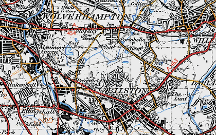 Old map of Bilston in 1946