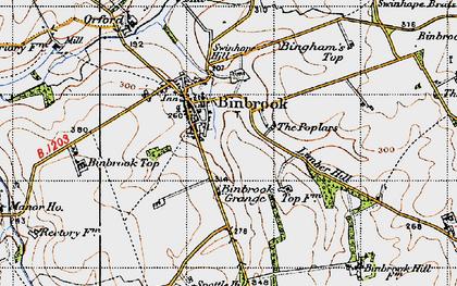 Old map of Binbrook in 1946