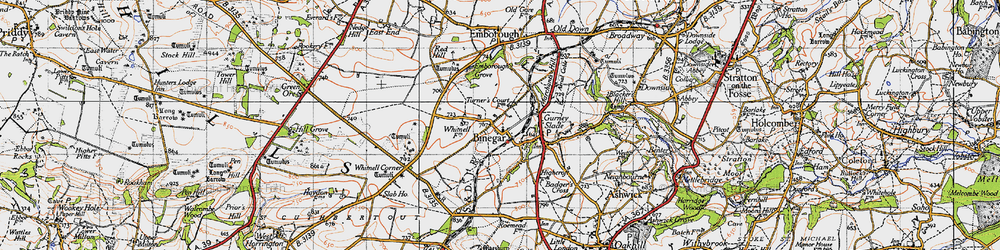 Old map of Whitnell Ho in 1946