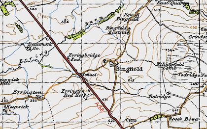 Old map of Todridge Fell in 1947