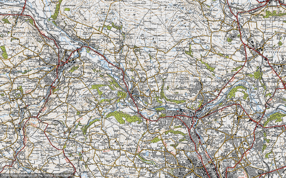 Old Map of Bingley, 1947 in 1947