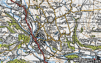 Old map of Bingley in 1947