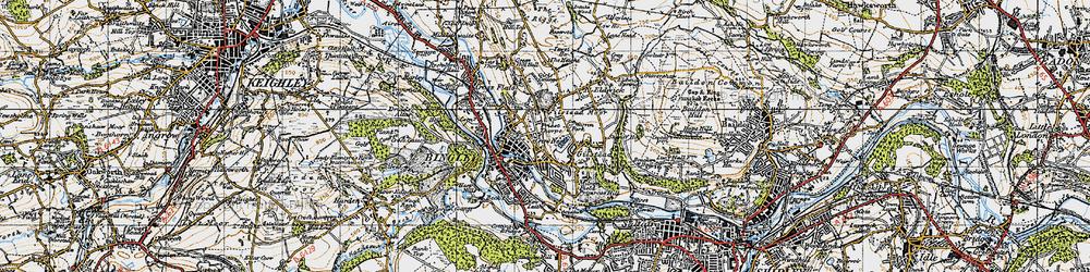 Old map of Bingley in 1947
