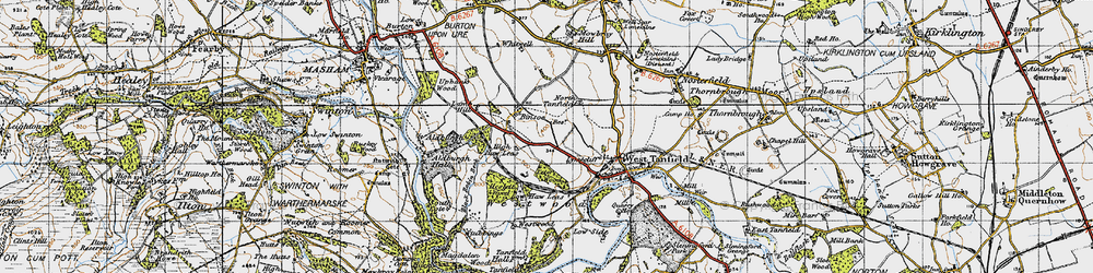 Old map of Westwood in 1947