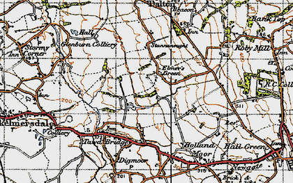 Old map of Birch Green in 1947