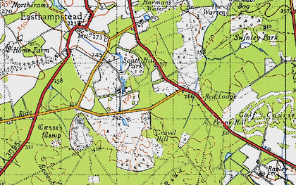 Old map of Birch Hill in 1940