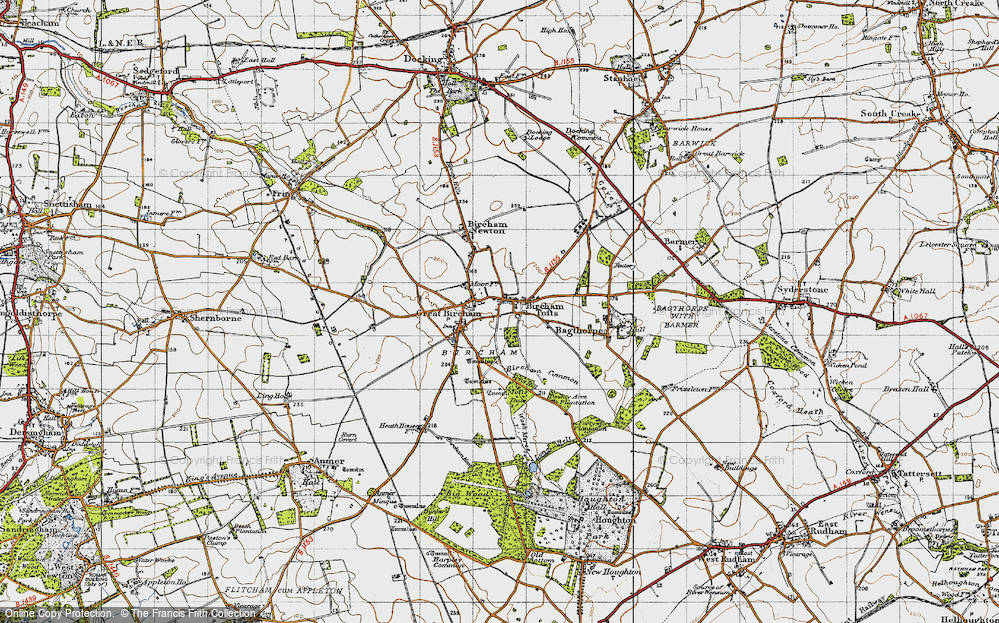 Old Map of Historic Map covering Tofts Dale in 1946