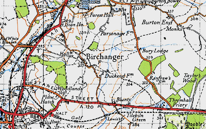 Old map of Birchanger in 1946