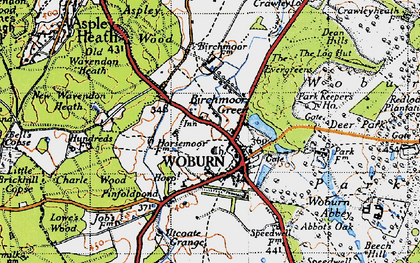 Old map of Birchmoor Green in 1946