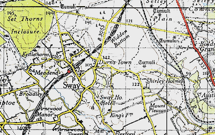 Old map of Widden Bottom in 1940