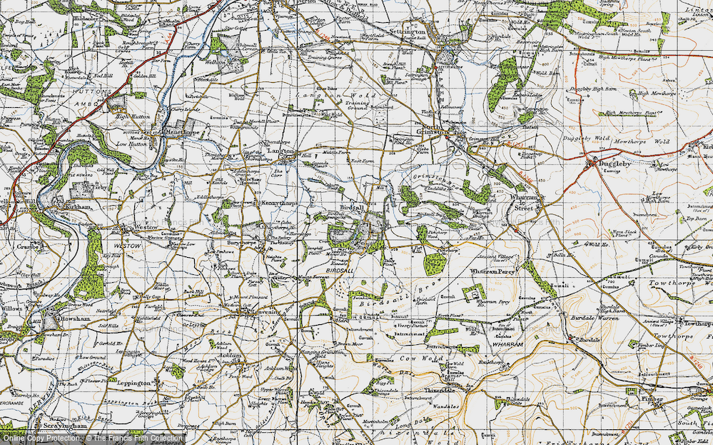 Old Map of Historic Map covering Leys Wood in 1947