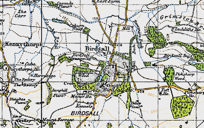 Old map of Langhill Wood in 1947