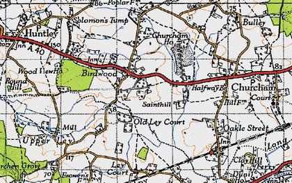 Old map of Birdwood in 1947