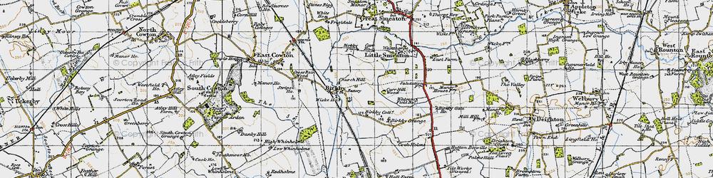 Old map of Wiske Ho in 1947