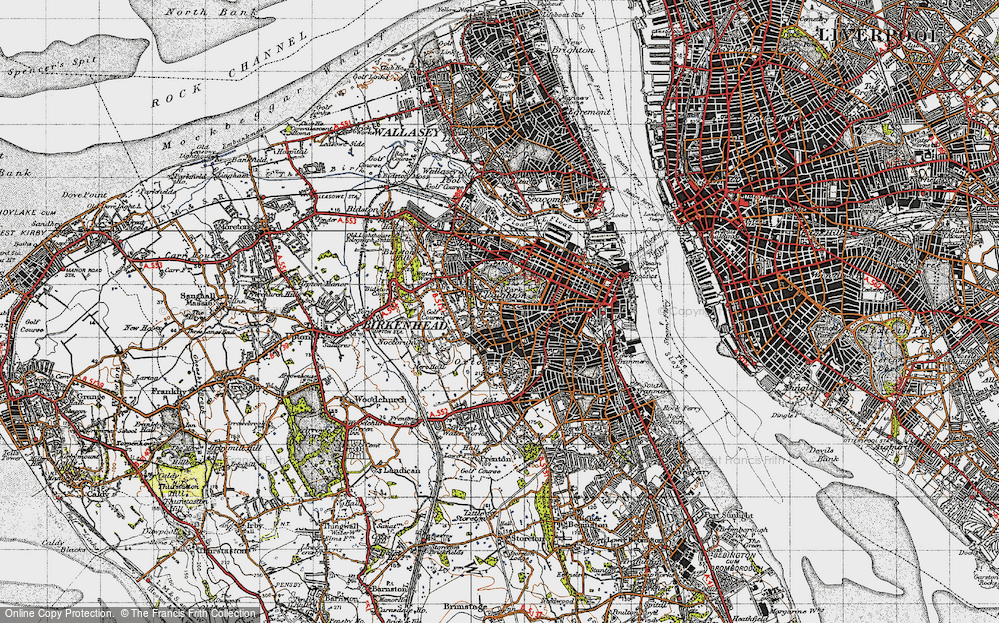 map of birkenhead 1947 francis frith