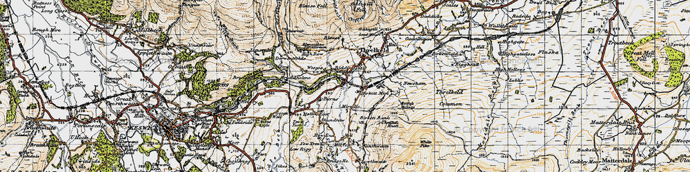 Old map of White Pike in 1947